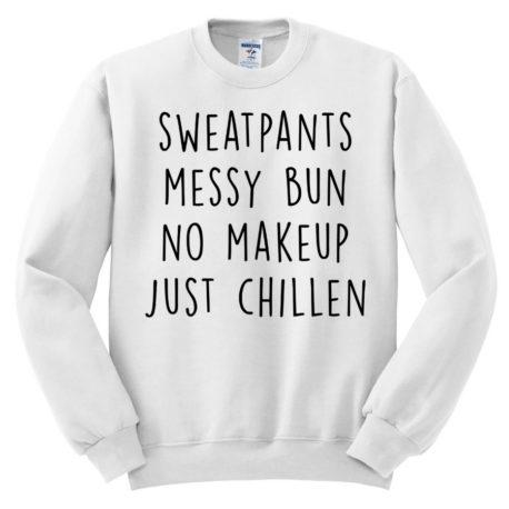 402 sweatpants messy bun no make up just chillen sweatshirt melonkiss