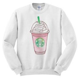 421 starbucks pink frappuccino sweatshirt melonkiss