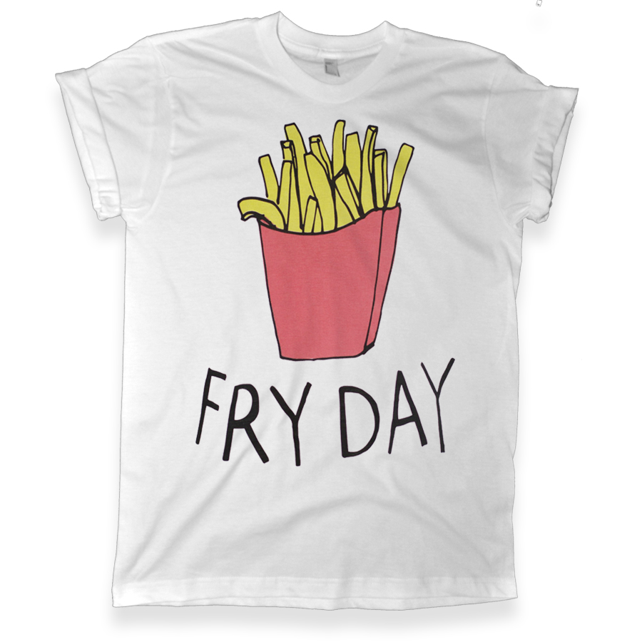 422 fry day white graphic tshirt melonkiss com