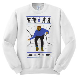 440 drake christmass hotline bling white graphic pullover sweatshirt melonkiss