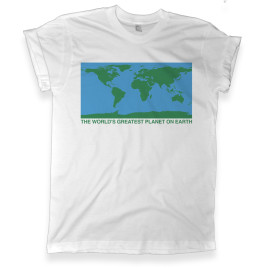 450 the world's greatest planet on earth white graphic tee melonkiss