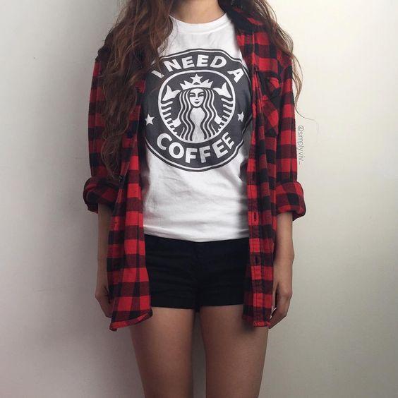 23 i need a coffeee starbucks tshirt melonkiss