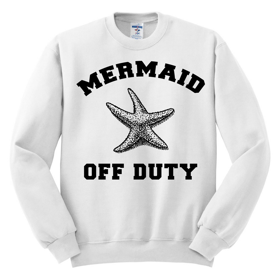 425 mermaid off duty sweatshirt starfish sweatshirt