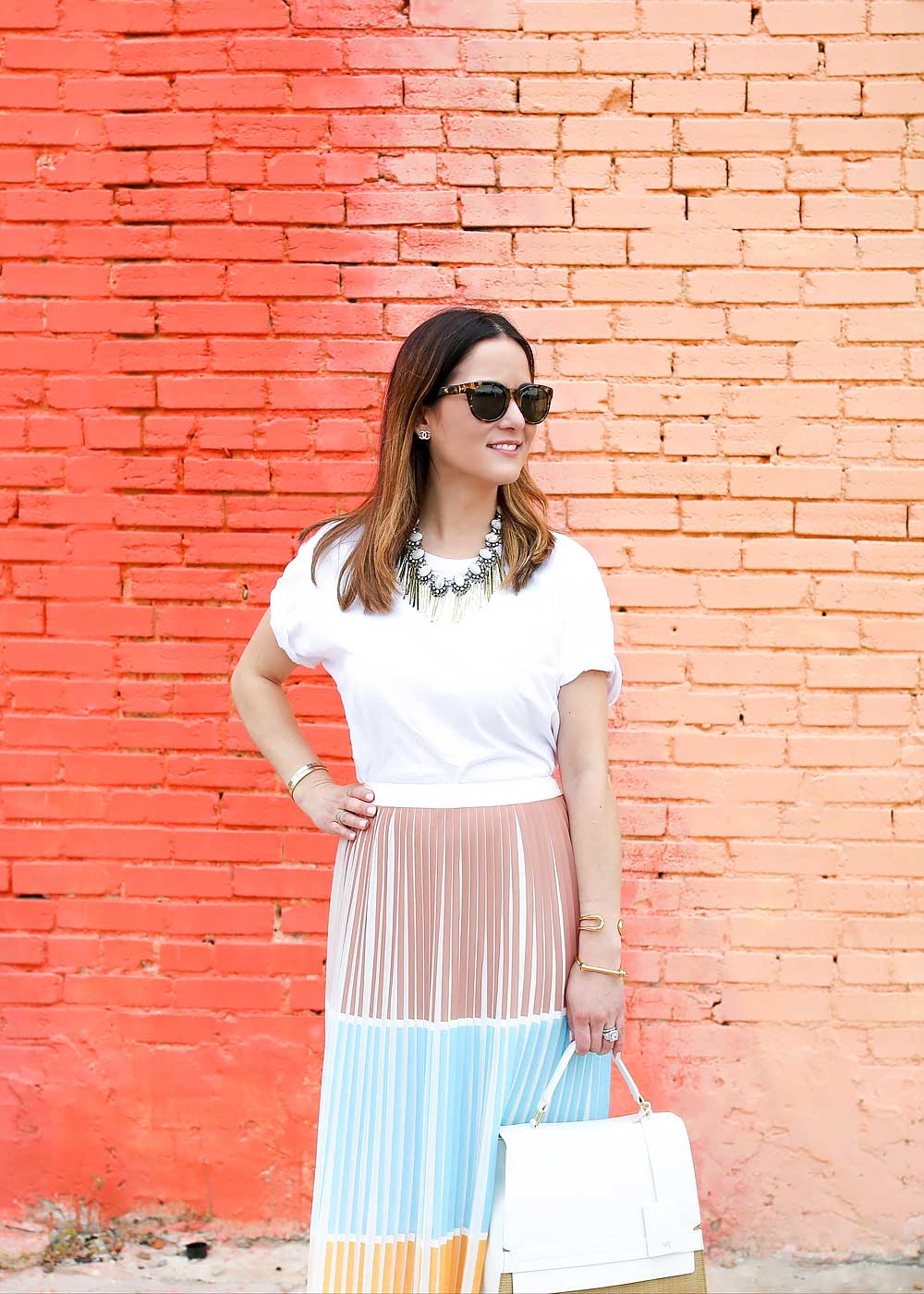 how to wear pleated skirts outfit ideas melonkiss 11