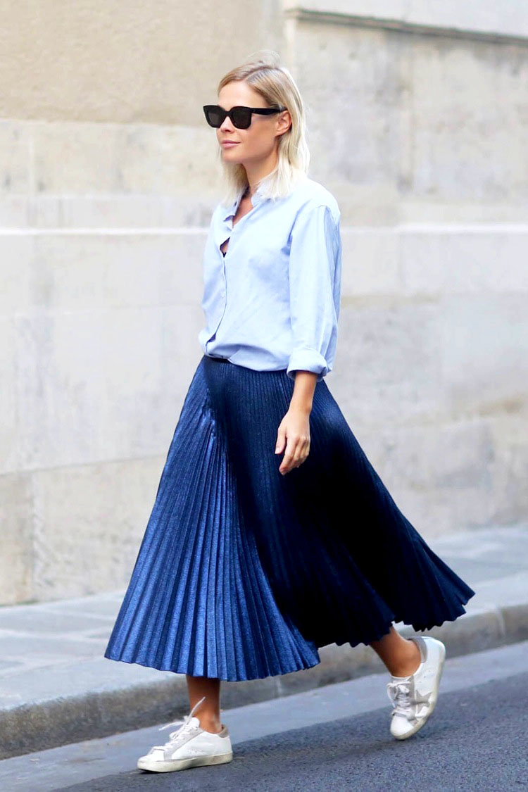 How To Wear A Pleated Skirt Outfit Ideas 2017