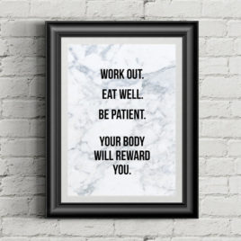 eat well fitness quote poster melonkiss copy