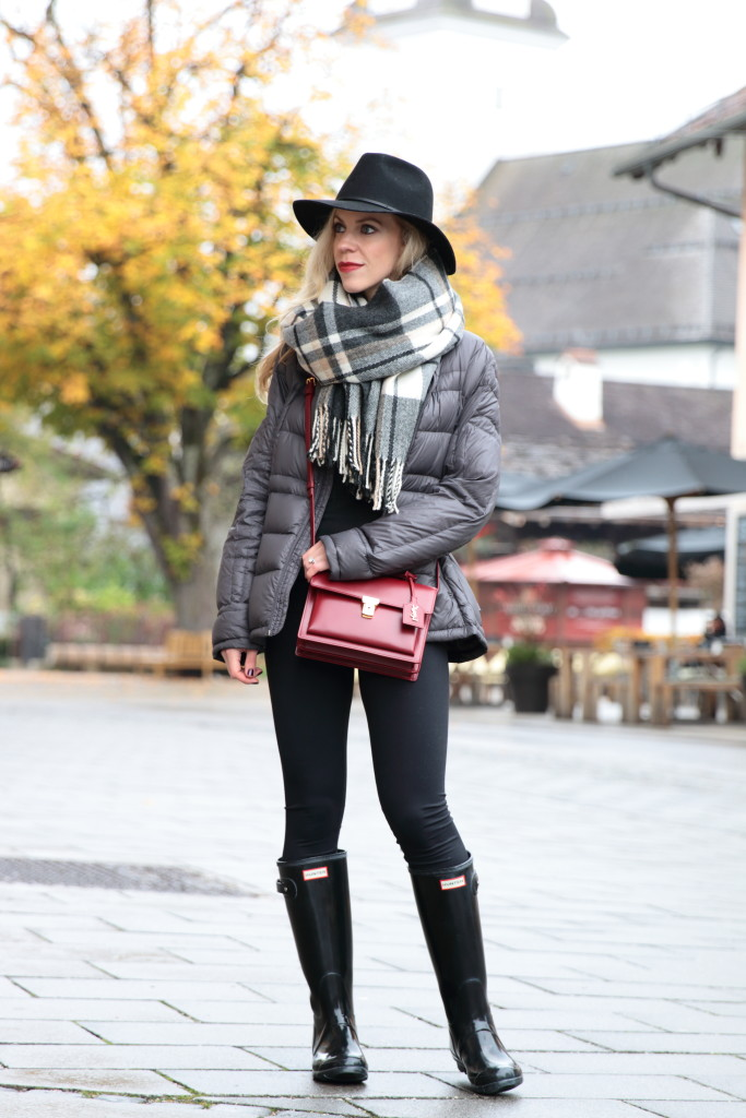 how to wear hunter boots outfit ideas 4