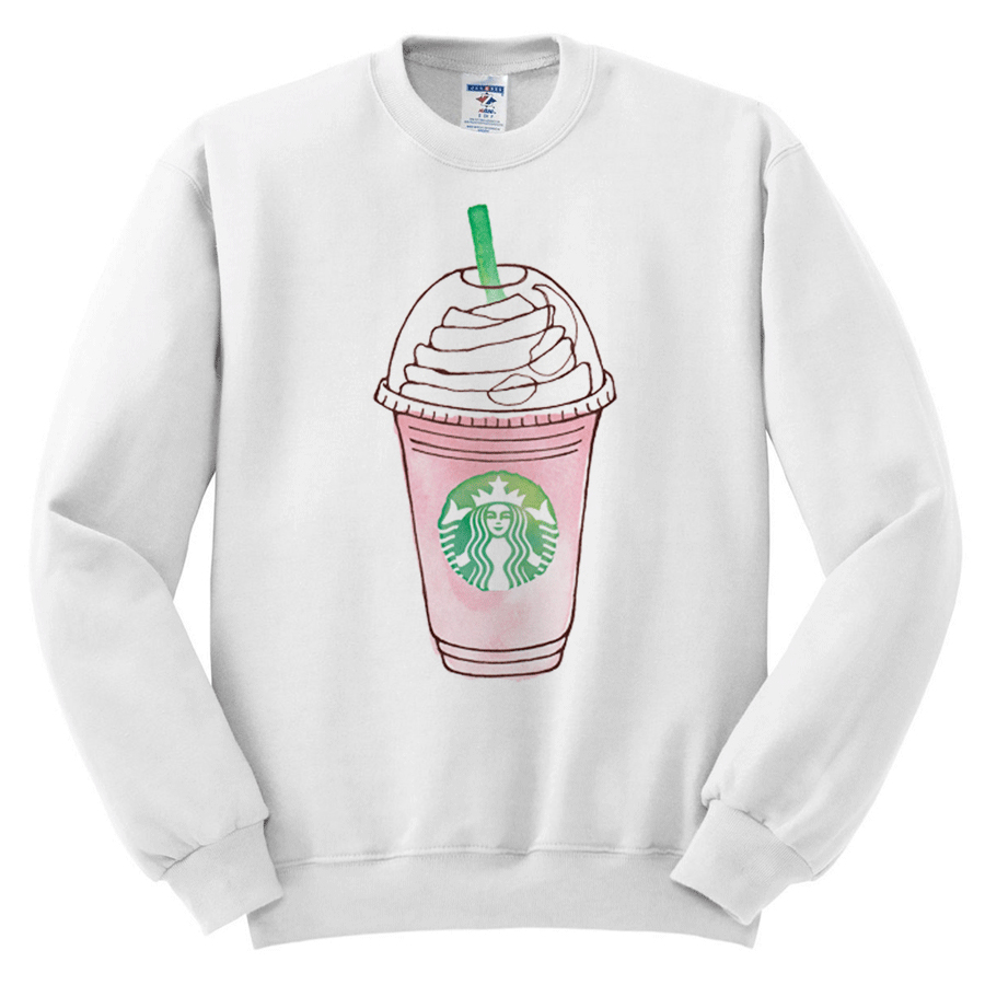 starbucks frappuccino graphic sweatshirt melonkiss